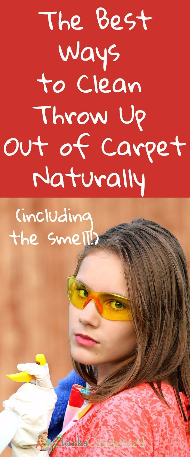 How to Clean Throw Up Out of Carpet Naturally Including the Smell