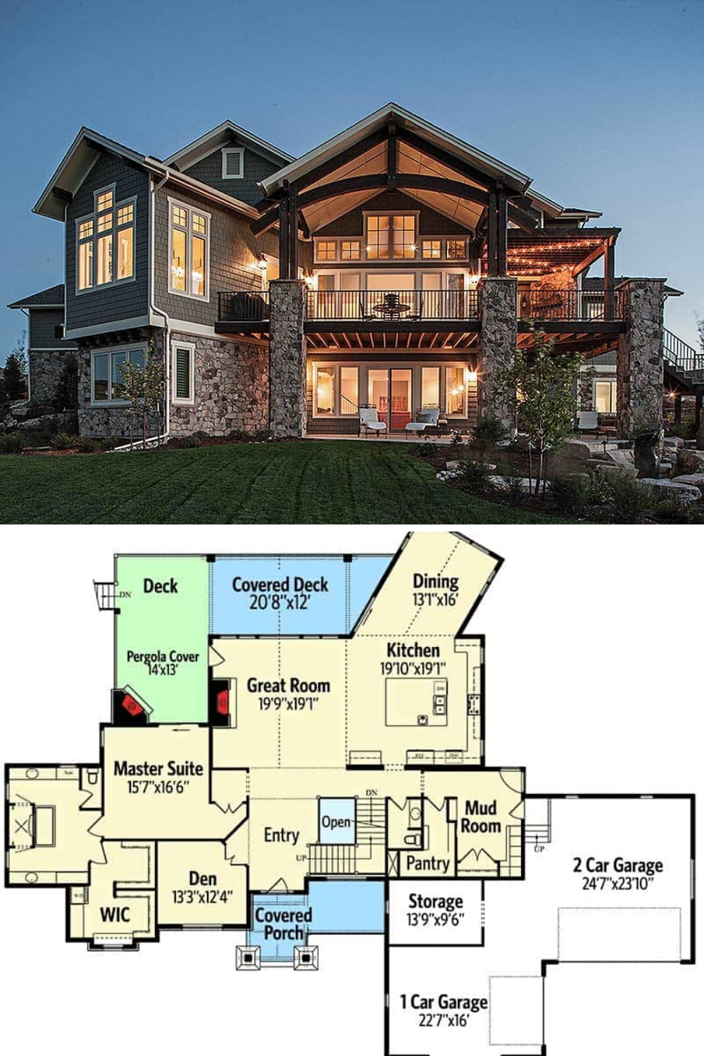 5 Bedroom Two Story Traditional Home With Craftsman Appeal Floor Plan In 2020 Craftsman House Plans Craftsman Style House Plans House Architecture Design
