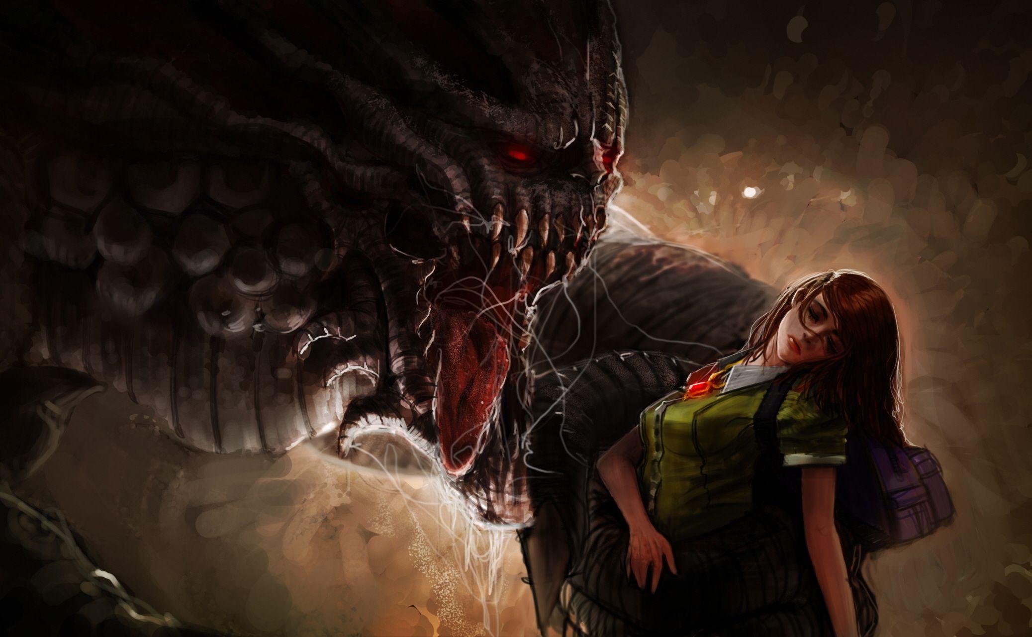 Monsters Fantasy Girls Monster Scary Horror Girl Dark Wallpaper Scary Wallpaper Scary Scary Monsters