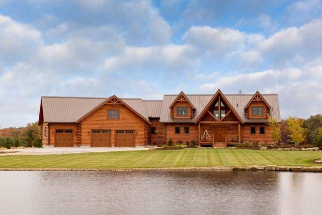 Biskup Log Home Floor Plan From Hochstetler Milling Ltd