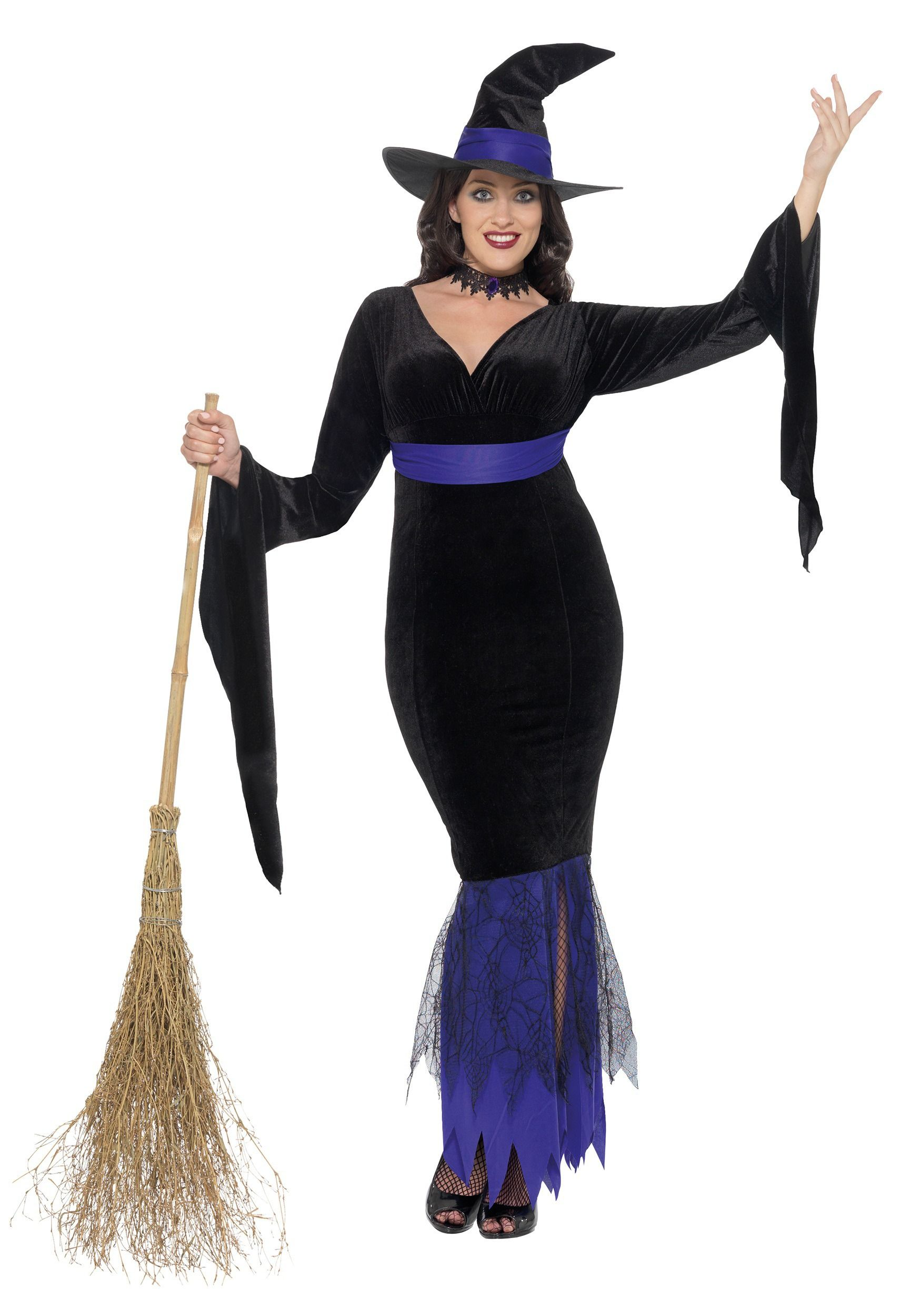Women's Plus Size Glamorous Witch Costume | Witch costumes ...