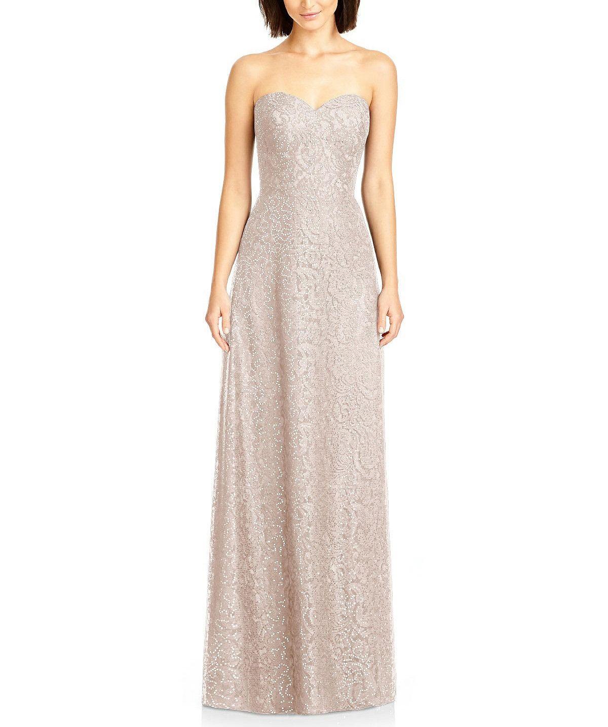 Descriptiondessy style full length bridesmaid dressstrapless