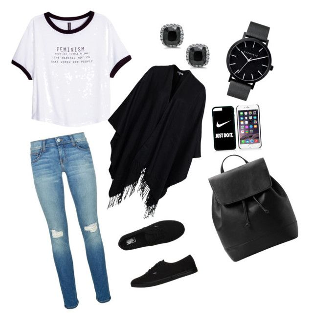 """""""Comfy yet Casual"""" by jasmeen-brar on Polyvore featuring H&M, Rebecca Minkoff, Vans, The Horse, MANGO, NIKE and Glamorous"""