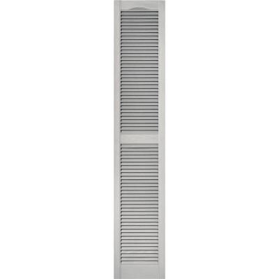 Builders Edge 15 In X 80 In Louvered Vinyl Exterior Shutters Pair 030 Paintable 010140080030 The Home Depot Shutters Exterior Vinyl Exterior Builders Edge