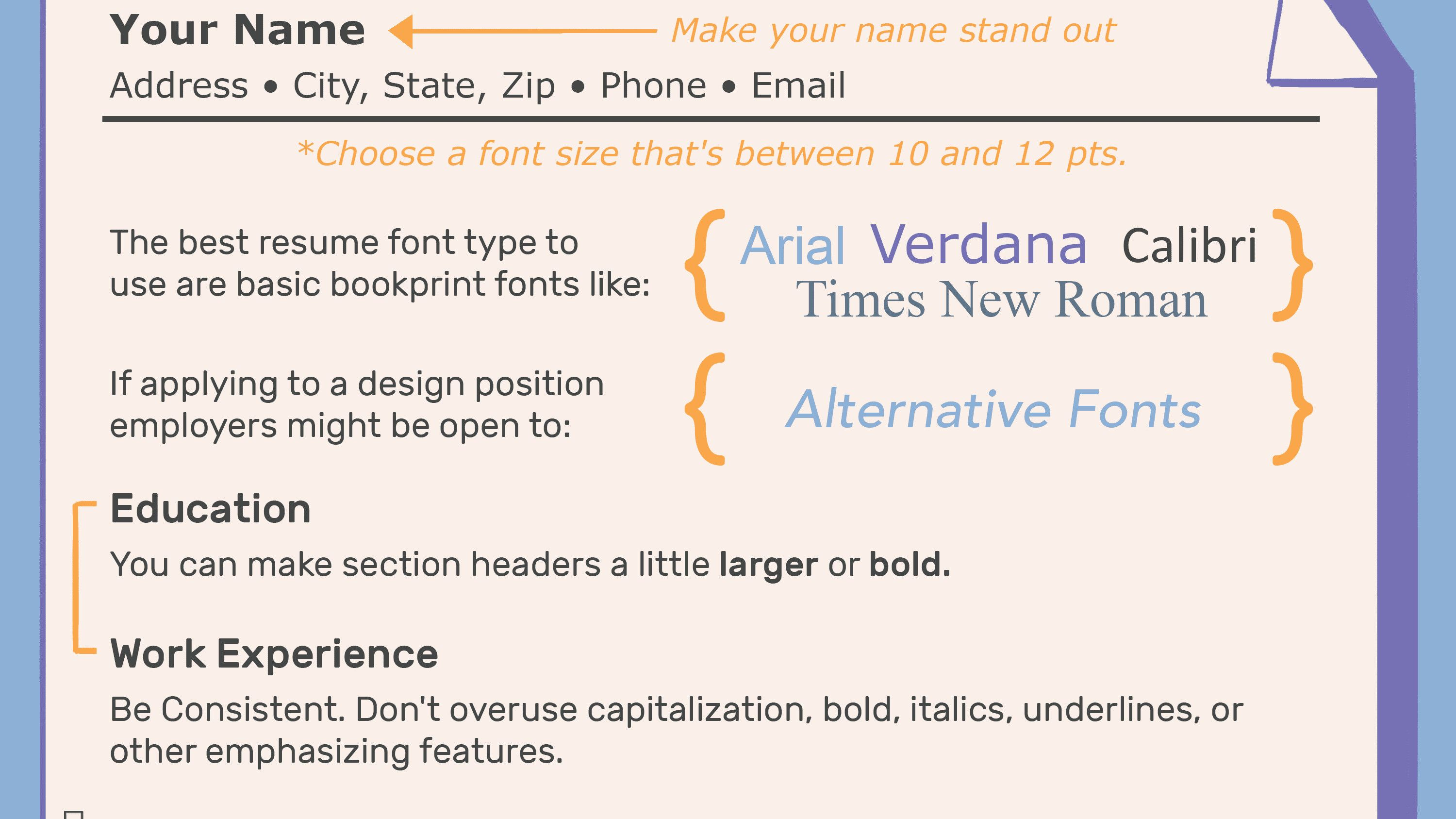 What Kind Of Paper Should I Print My Resume On New The Best Font Size And Type For Resumes Resume Good Resume Examples Best Resume Template