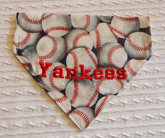 Dog Bandana Choose your Baseball Team Sizes S by MakeMeSmileCrafts, $8.75
