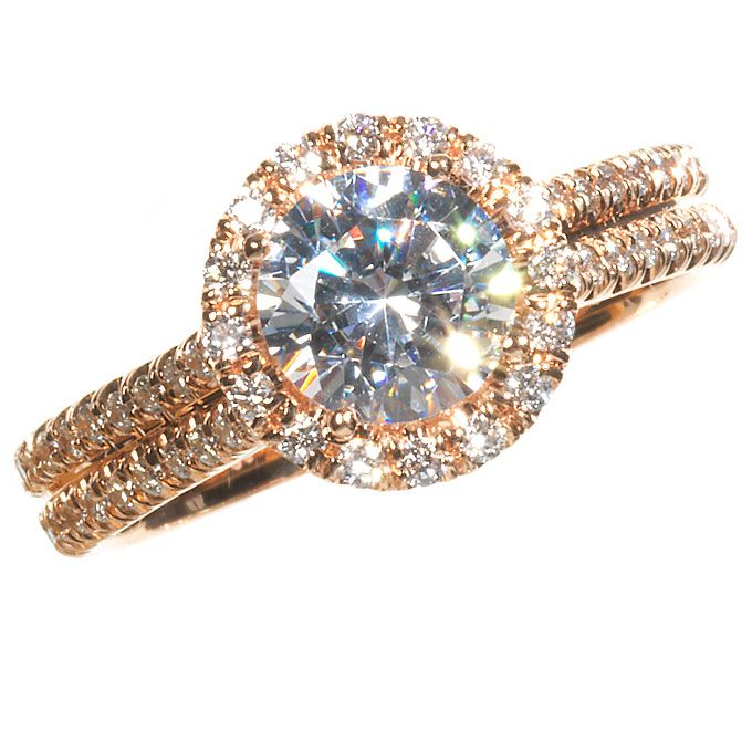 Rose Gold Engagement Rings and Wedding Bands Gold rings Rose gold