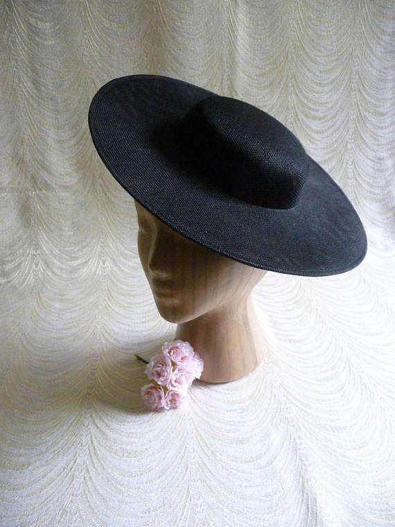 3211f11c0e1a25 Large Black Saucer Hat Base Straw Fascinator Hat Form for DIY ...