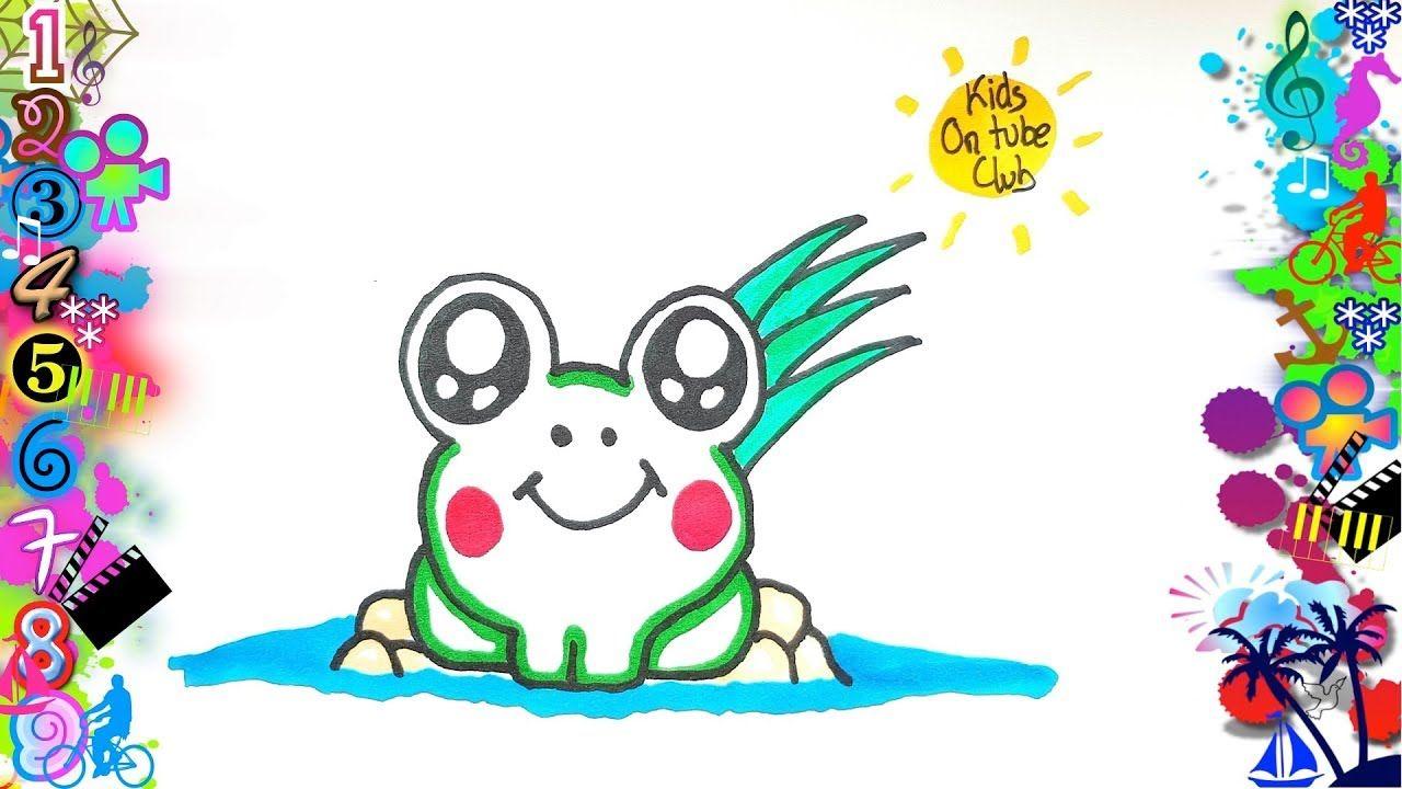 Como Dibujar Una Rana Kawaii Paso A Paso Facil Dibujos Faciles Para N Dibujos Kawaii Dibujos Kawaii Faciles Dibujos Faciles