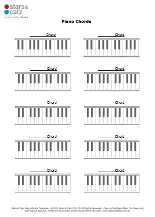 Blank Piano Chord Templates Sheet Image Music