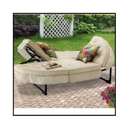 Exceptional Outdoor Double Lounger Patio Furniture Pool Deck Sun