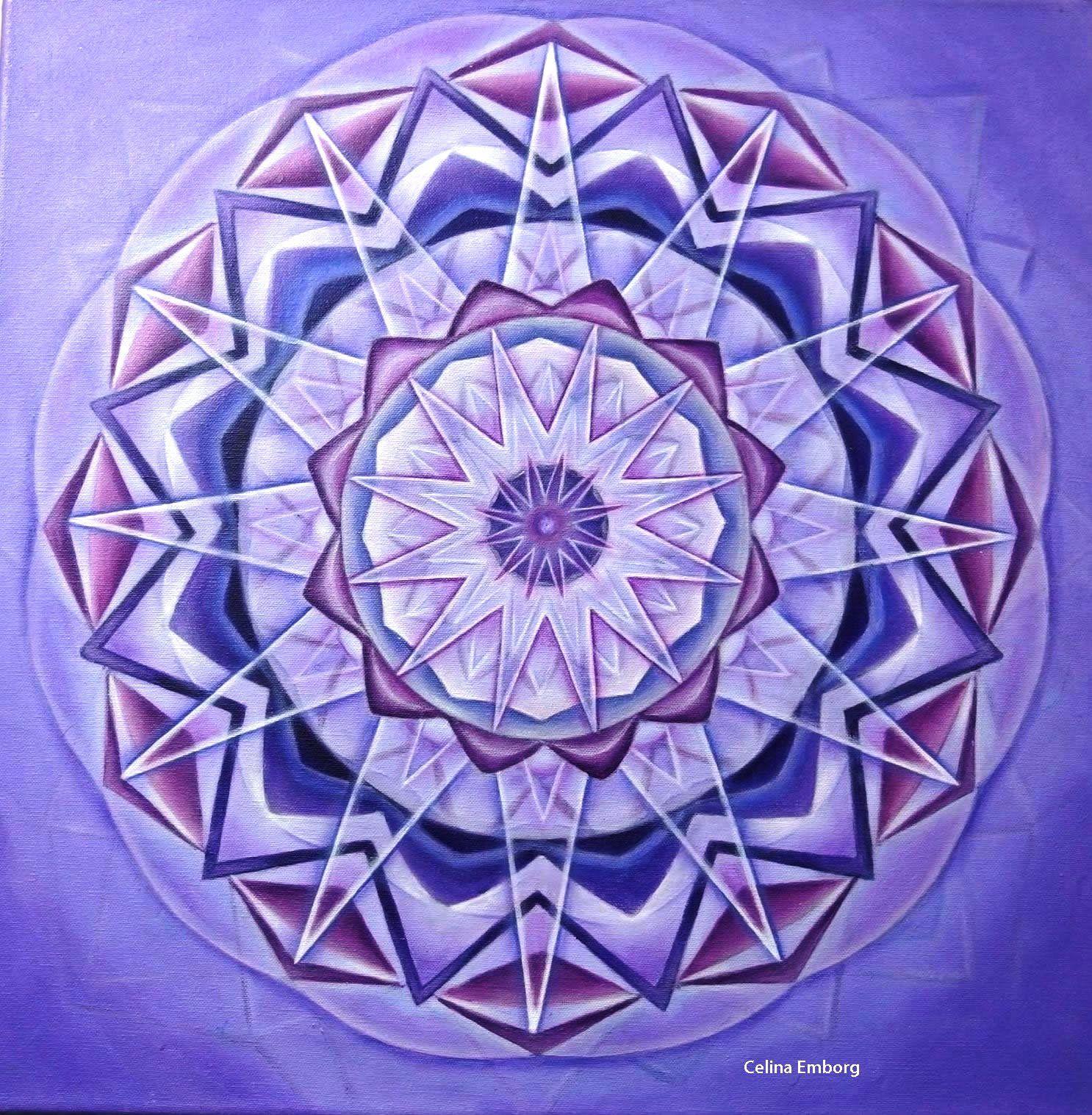 Mandala violeta taller de mandalas curso el significado - Mandalas en colores ...