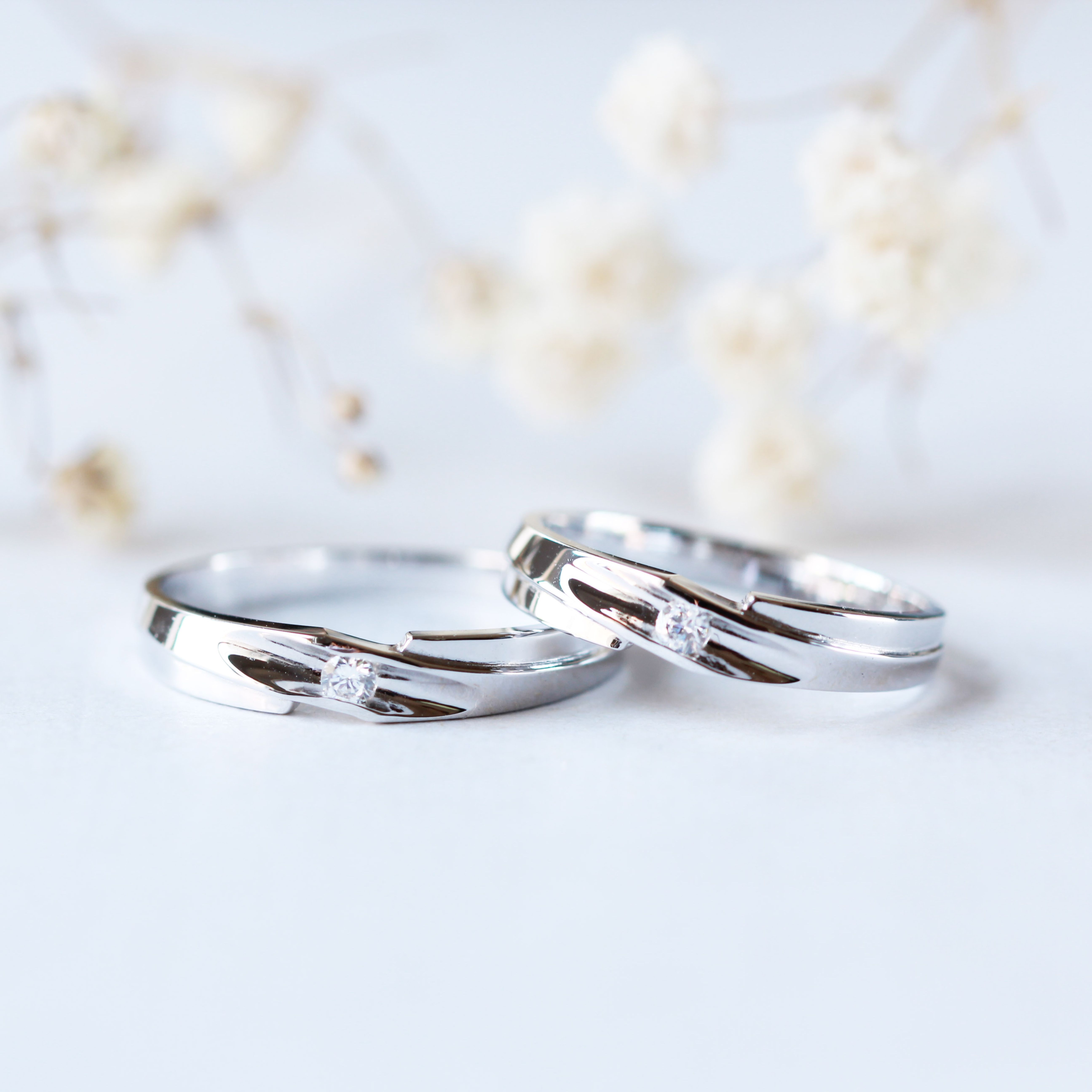 It is just a graphic of Modern Wedding Band Couple ring set Simple Wedding rings 42K