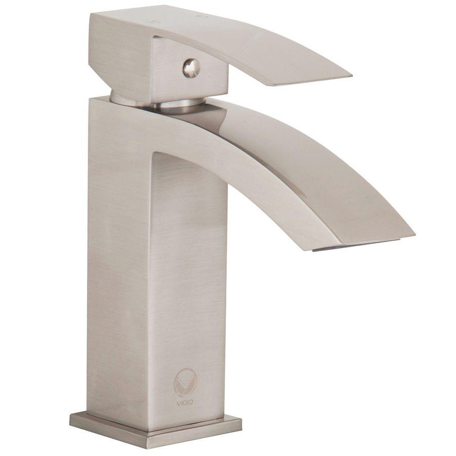 Vigo Satro Brushed Nickel 1-Handle Single Hole Watersense Bathroom ...