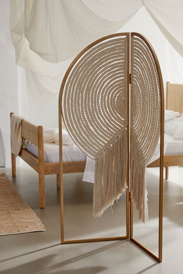Photo of Hallie Macramé Room Divider Screen