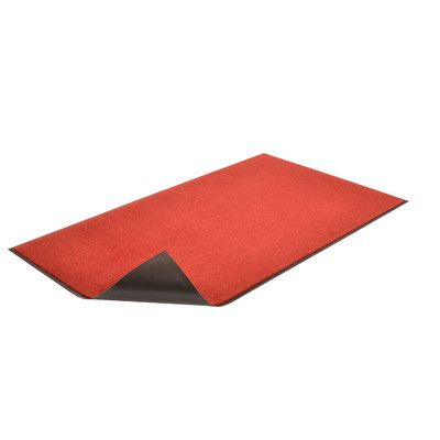 Winston Porter Candance Non Slip Indoor Only Door Mat Design Red Color