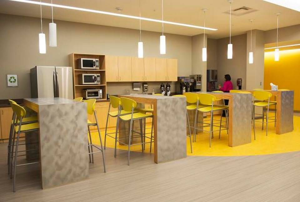 Employee break room design google search team for Office lunch room design ideas