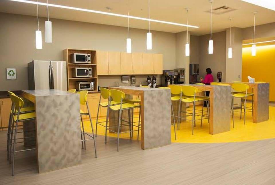 employee break room design  Google Search  team  Office