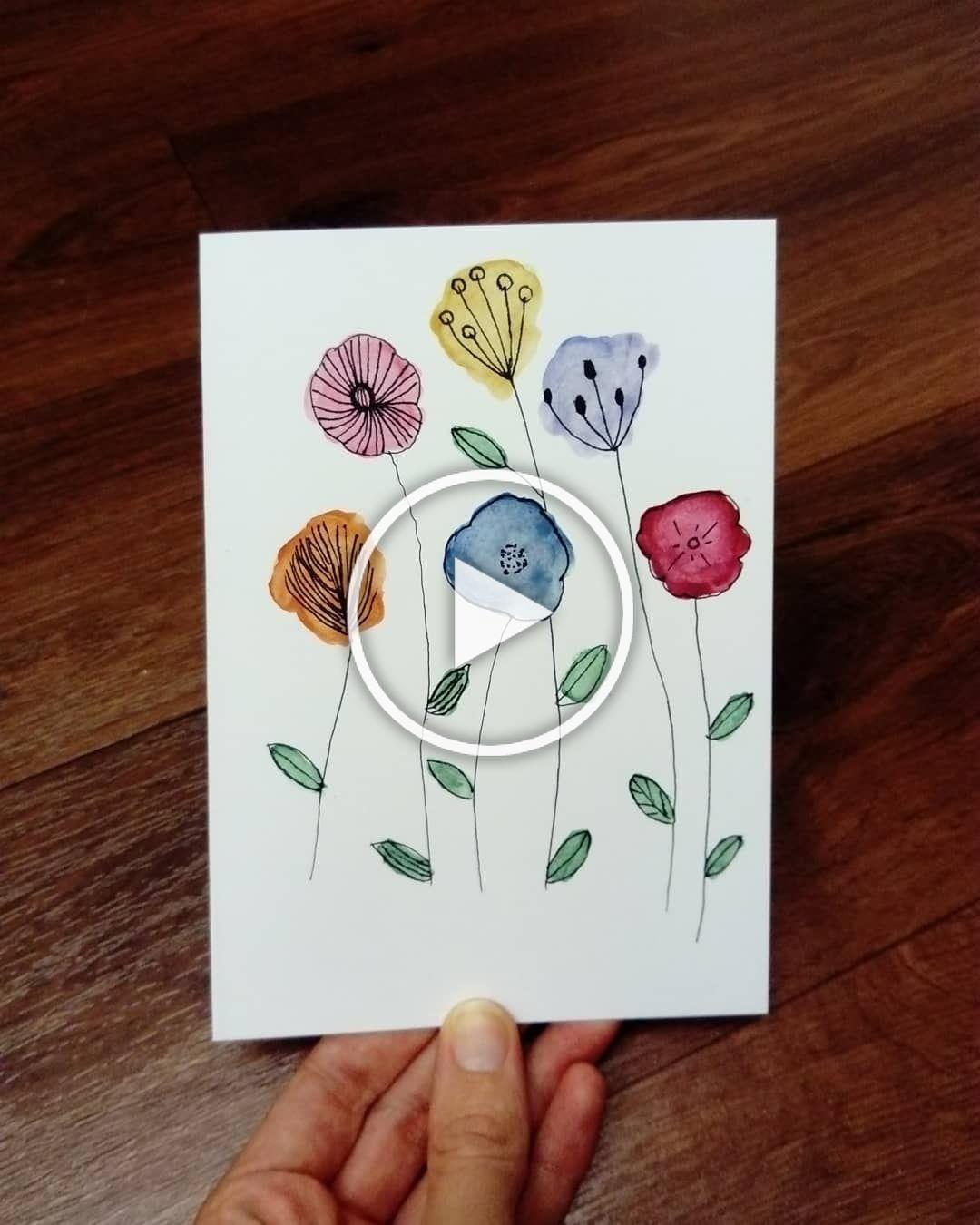 Pretty Watercolor Flowers #watercolor #flowers #painting#doodle #watercoloring