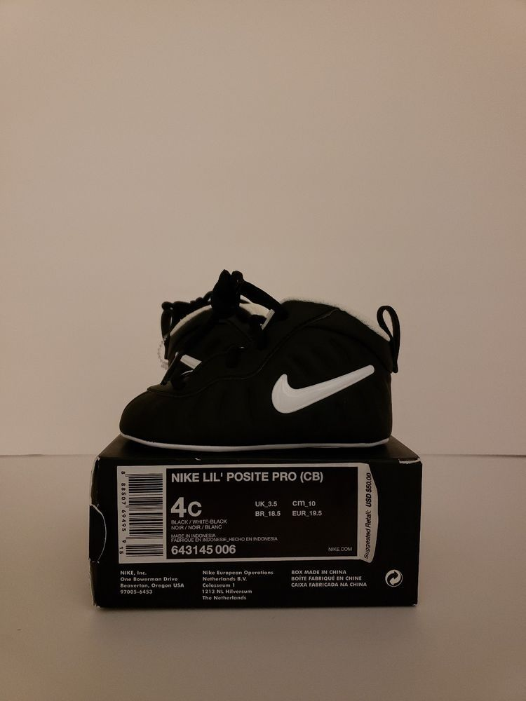 200d17ee08f53e NIKE LIL  POSITE PRO (CB) Baby Infant Crib Shoes  Blk White  Sz 4C  643145-006  fashion  clothing  shoes  accessories  babytoddlerclothing   babyshoes (ebay ...