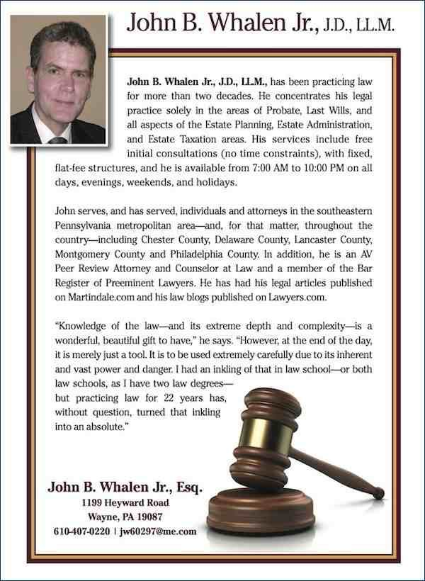 John B Whalen Jr J D Ll M Attorney And Counselor At Law