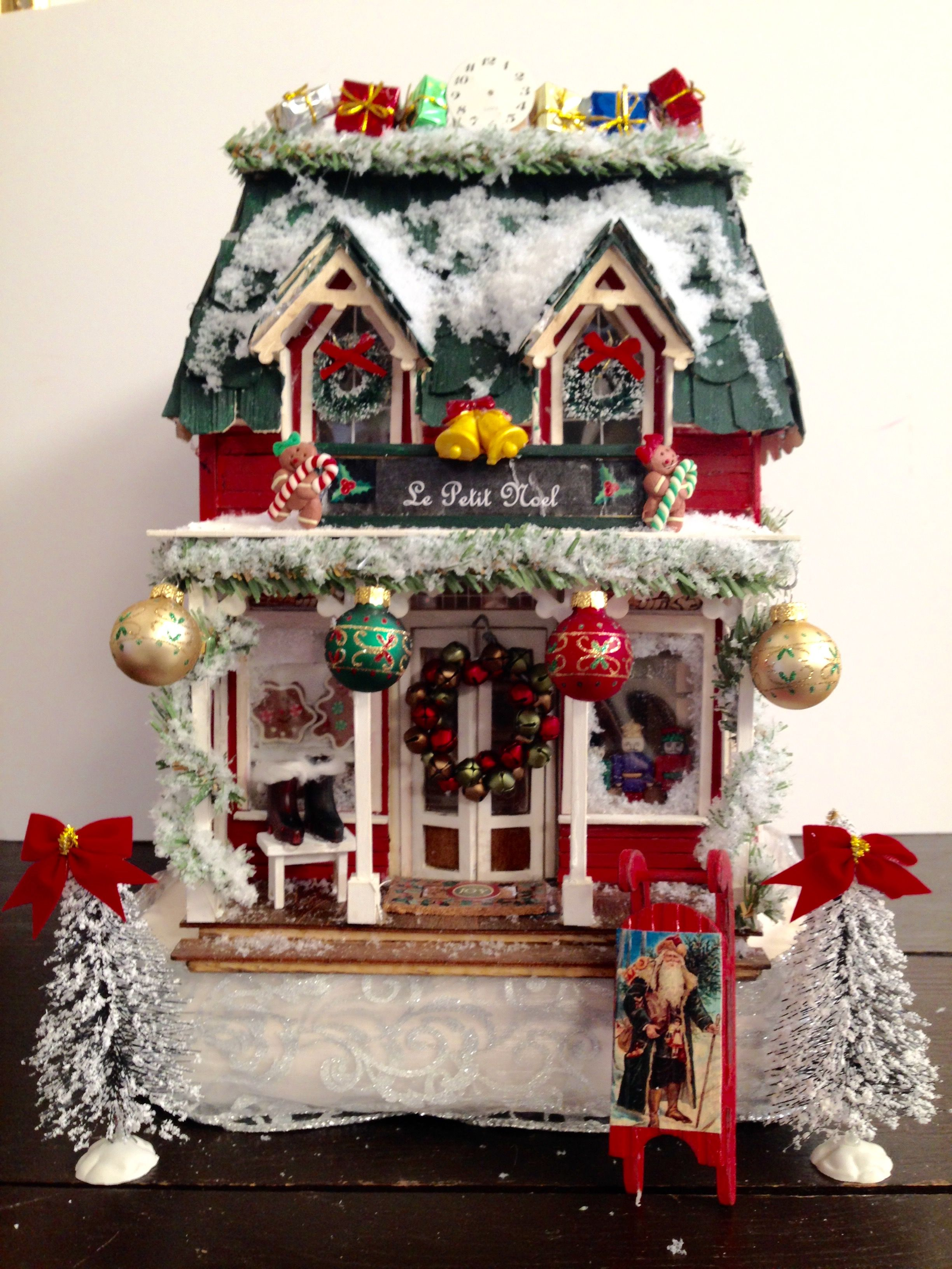 le petit noel christmas shoppe made from the greenleaf brimbles mercantile kit miniature christmas shop - Noel Christmas Store