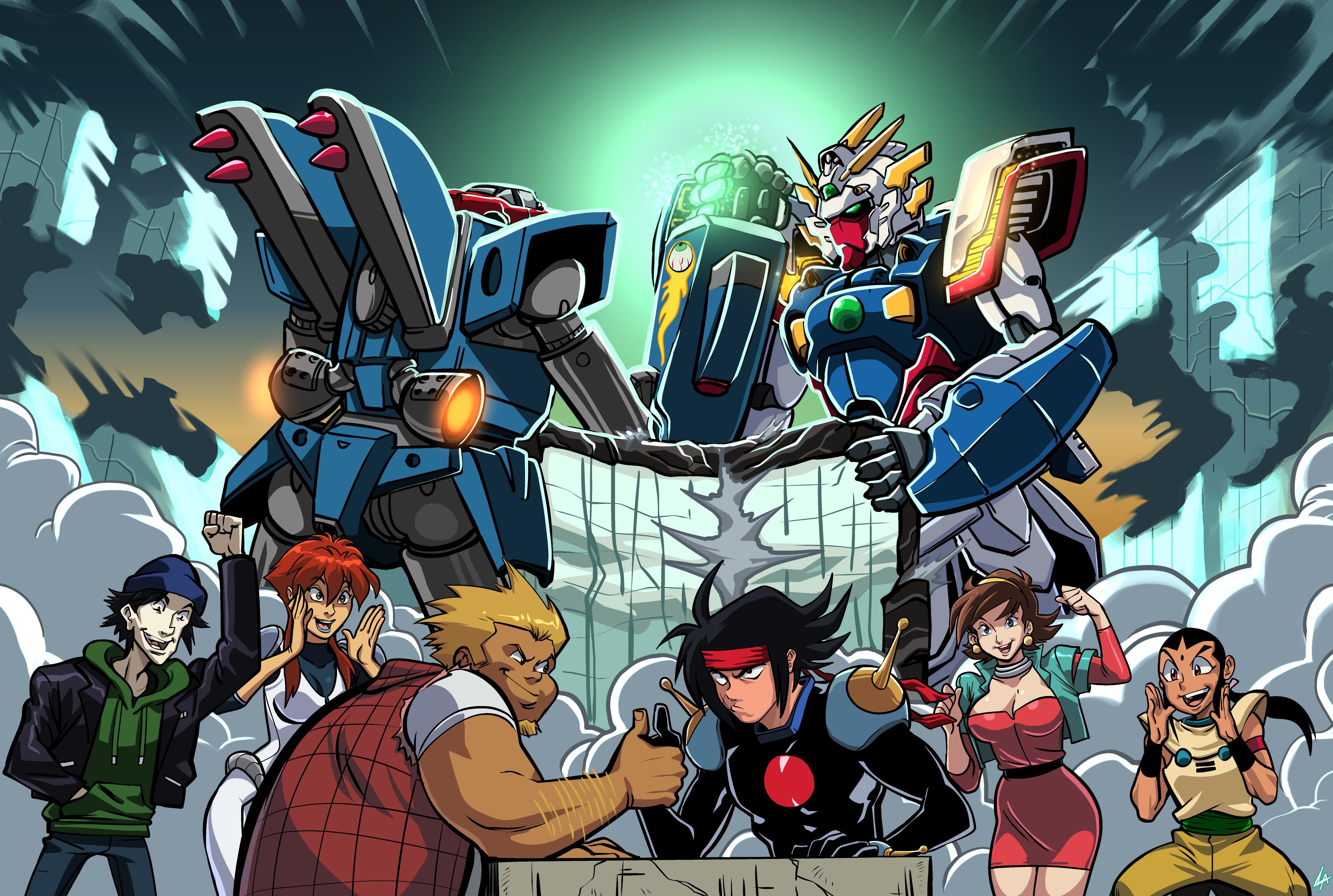 Megas XLR vs G Gundam   Crossovers   Anime art, Art inspo, Art