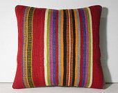 striped pillow striped pillow cover striped pillow case stripe throw pillow stripe decorative pillow colorful rug cushion kilim pillow 11761