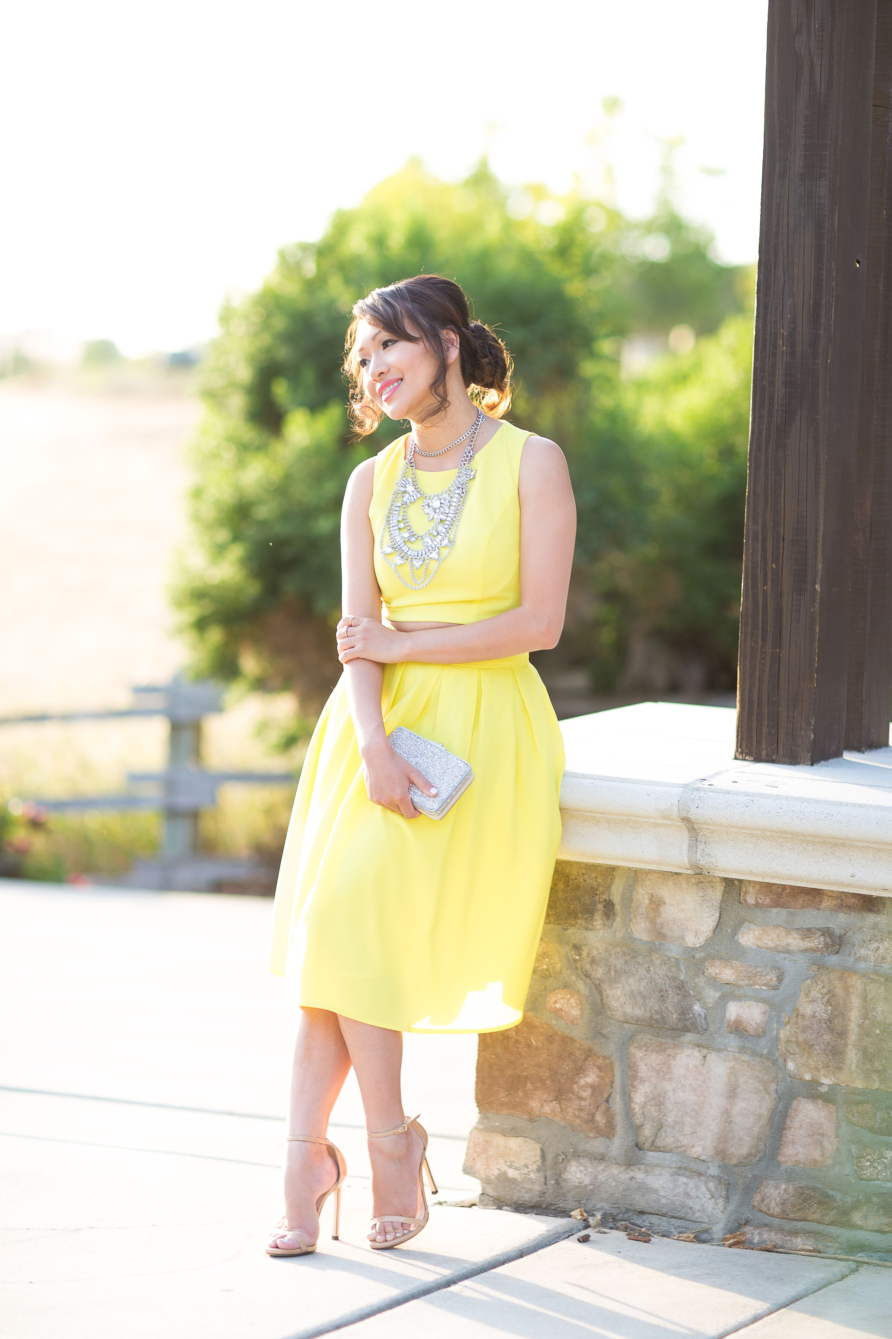 Two piece wedding guest dress  two piece skirt and top two piece dresses style by alina fashion