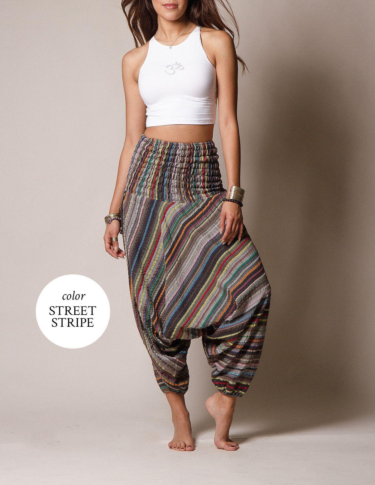 5ea963a0fe98 Indian Striped Harem Yoga Pants | #SivanaWishes | Yoga pants, Harem ...