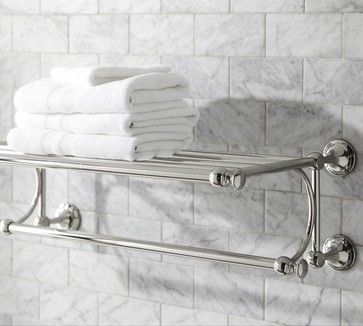 Towel Racks For Tile In Polished Nickel All Products Bath Bathroom Accessories Bars Holders