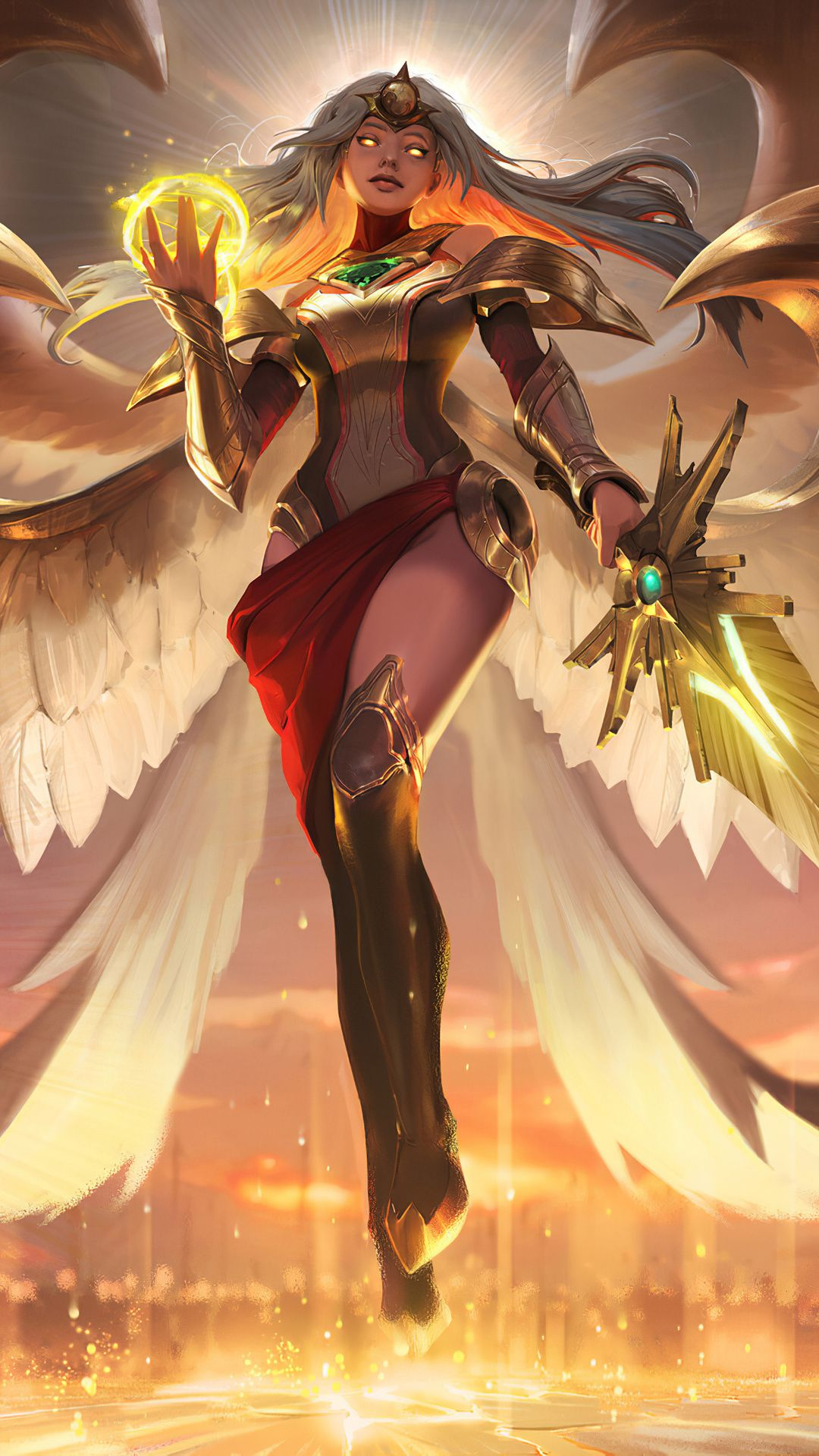 Kayle League Of Legends 4k Mobile Wallpaper (iPhone