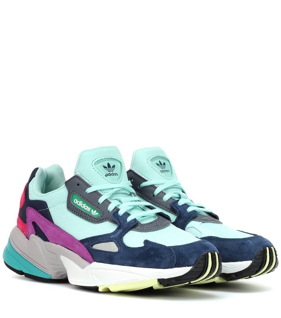 Falcon Suede-Trimmed Sneakers | Adidas Originals - mytheresa ...