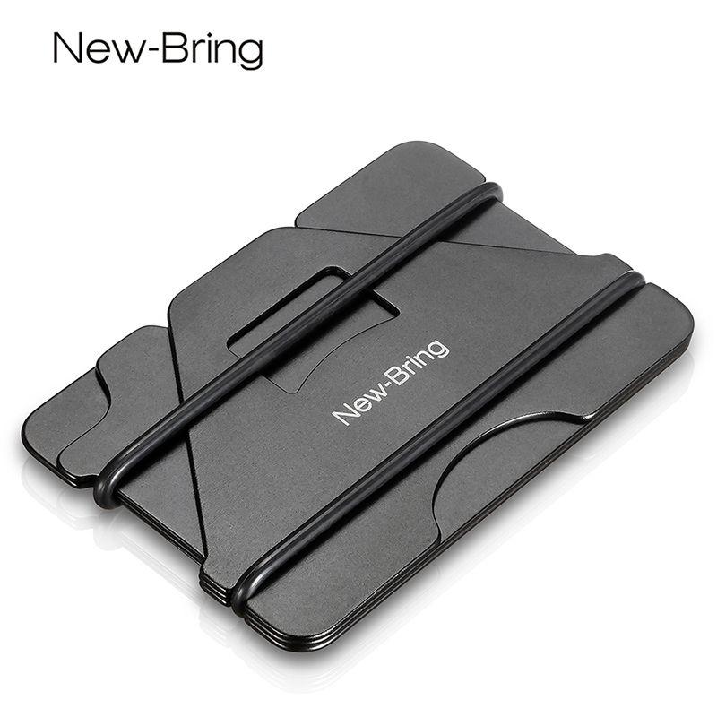 NewBring Multiple Function Metal Credit Card Holder Black Pocket Box ...