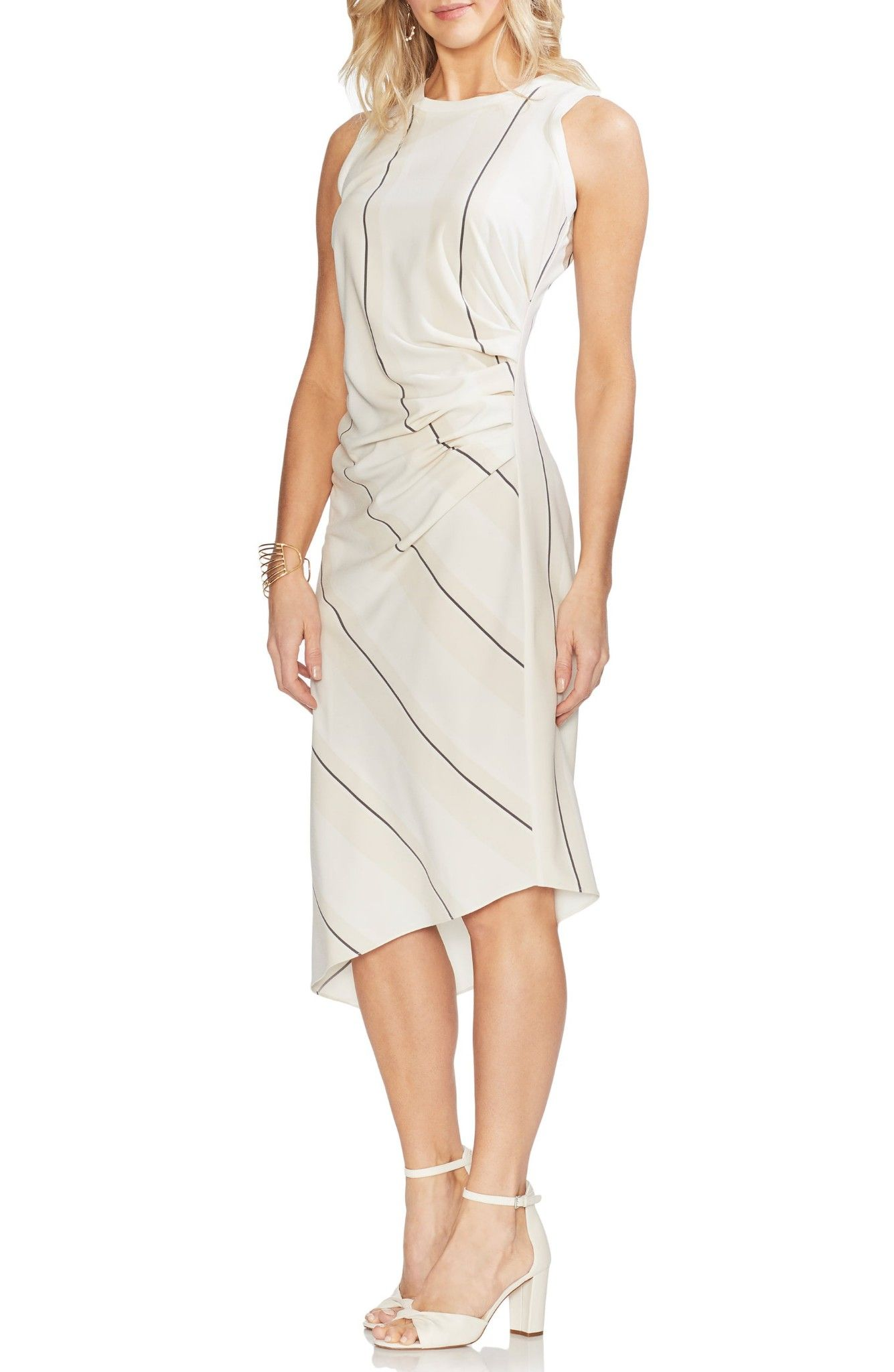 Pin By Amanda Sergent On Clothing Striped Sleeveless Dress Dresses Ruched Midi Dress [ 2048 x 1335 Pixel ]