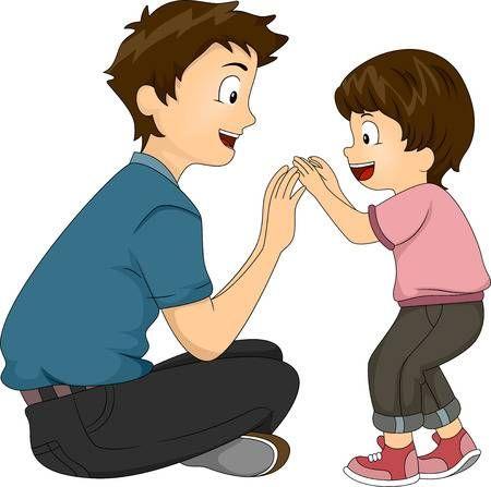Ilustracion De Un Padre E Hijo Jugando Juntos Padre E Hijo Dibujo Padre E Hijo Ilustracion De Abrazo