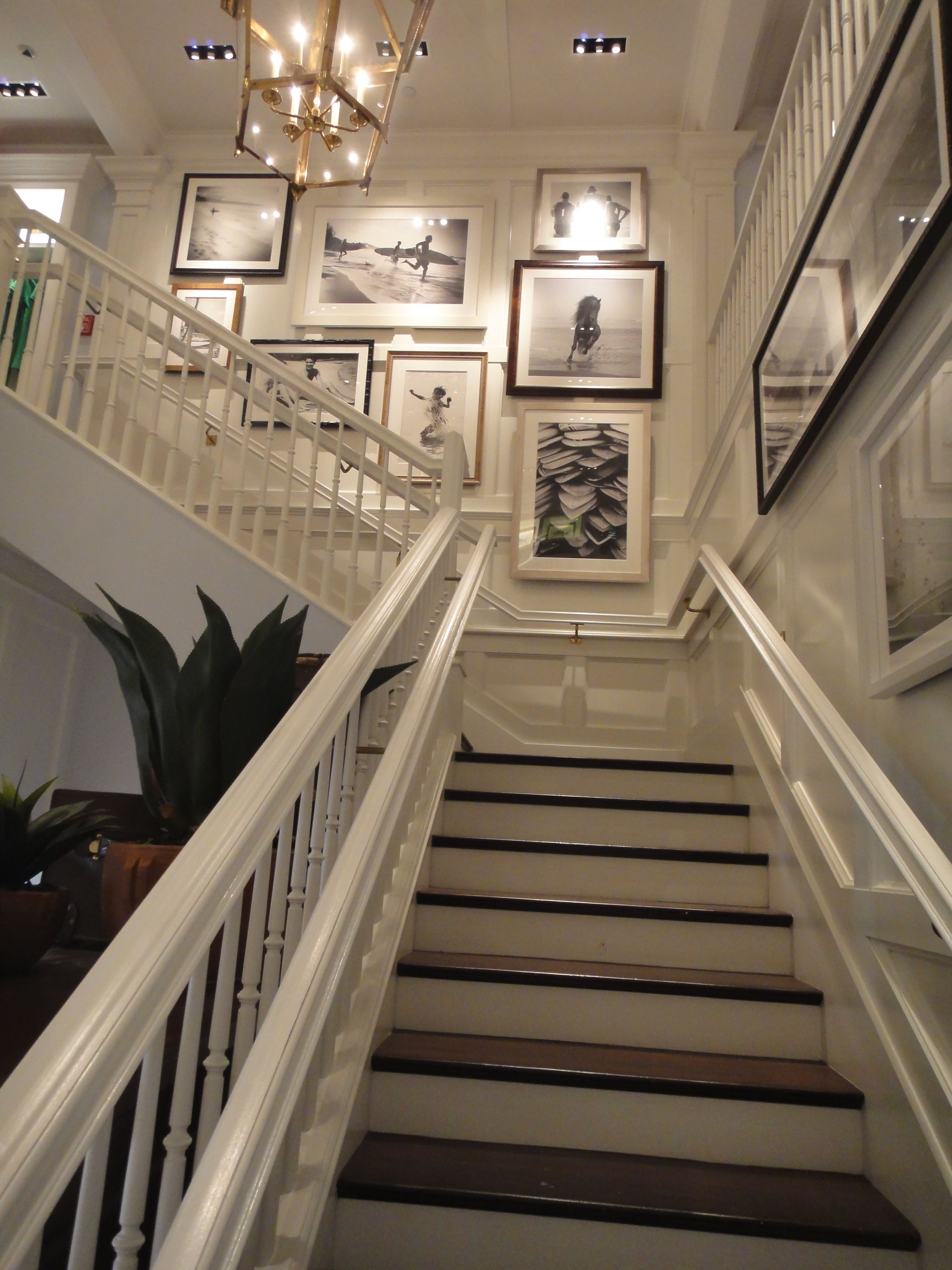 Stairwell Photo Gallery Not As Overpowering With Larger