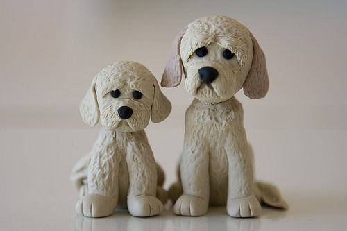 Fluffy dogs | Fondant,Gum Paste figurines & flowers ...