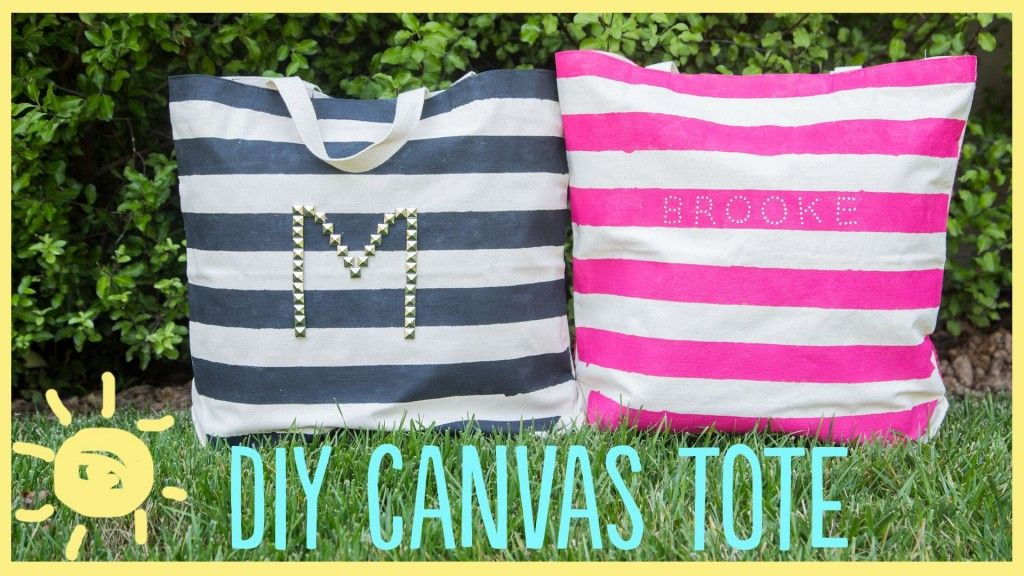 DIY | Canvas Tote | What's Up Moms!