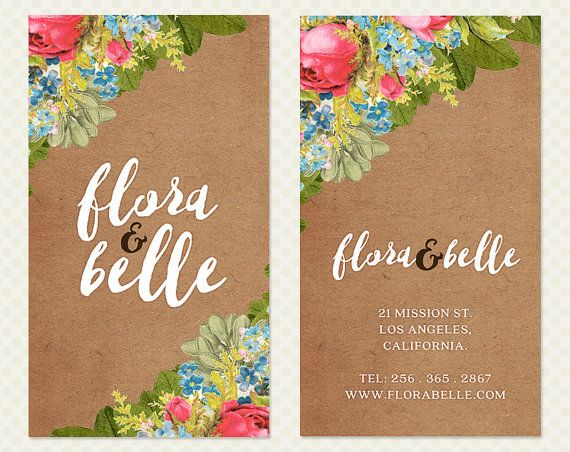 Kraft paper flowers business card design by crookedlittlepixel kraft paper flowers business card design by crookedlittlepixel reheart Choice Image