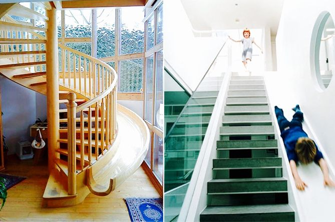 A staircase that doubles as a slide.