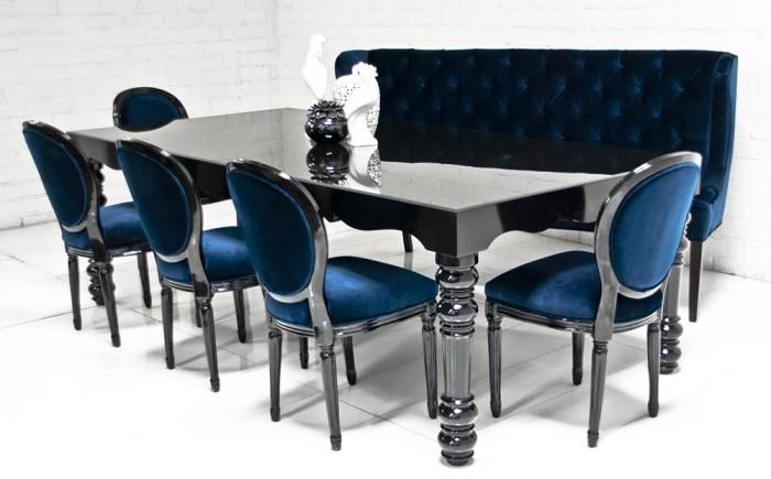 Bel Air Dining Table In High Gloss Black Absolutely Gorgeous Hands Down The Most Beautiful Table I Ha Black Dining Room Dining Table Black Luxury Dining Room