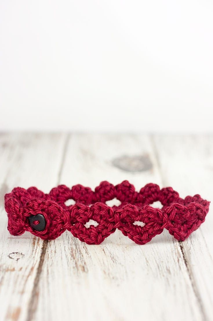 Crochet Heart Headband Pattern | Valentine Crochet Ideas | Pinterest ...