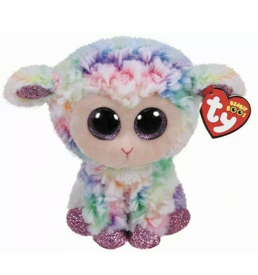 "/& DAFFODIL Lamb 6/"" NEW MWMT Bunny Ty Beanie Boos Easter Set of 2 ~ BLOOMY"