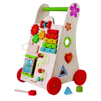 Lovely A Frame Wooden Walker With Activity Centre Much