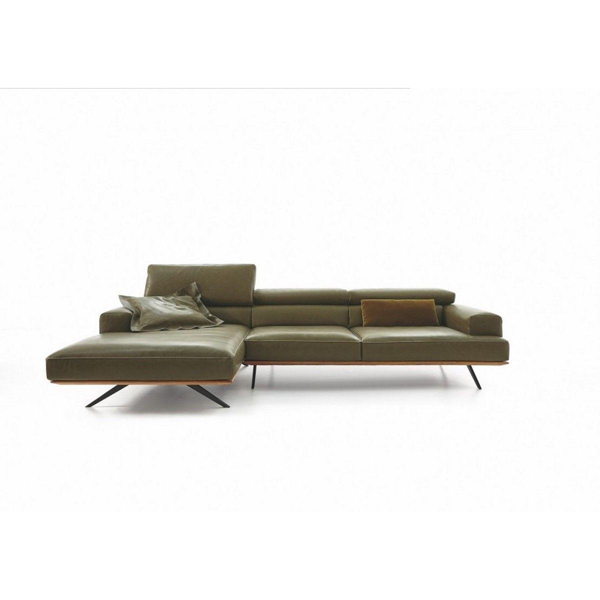 Large Profondeur Avec Modifiable Assise Cuir Canapé Longue Chaise LqSzGMpUV
