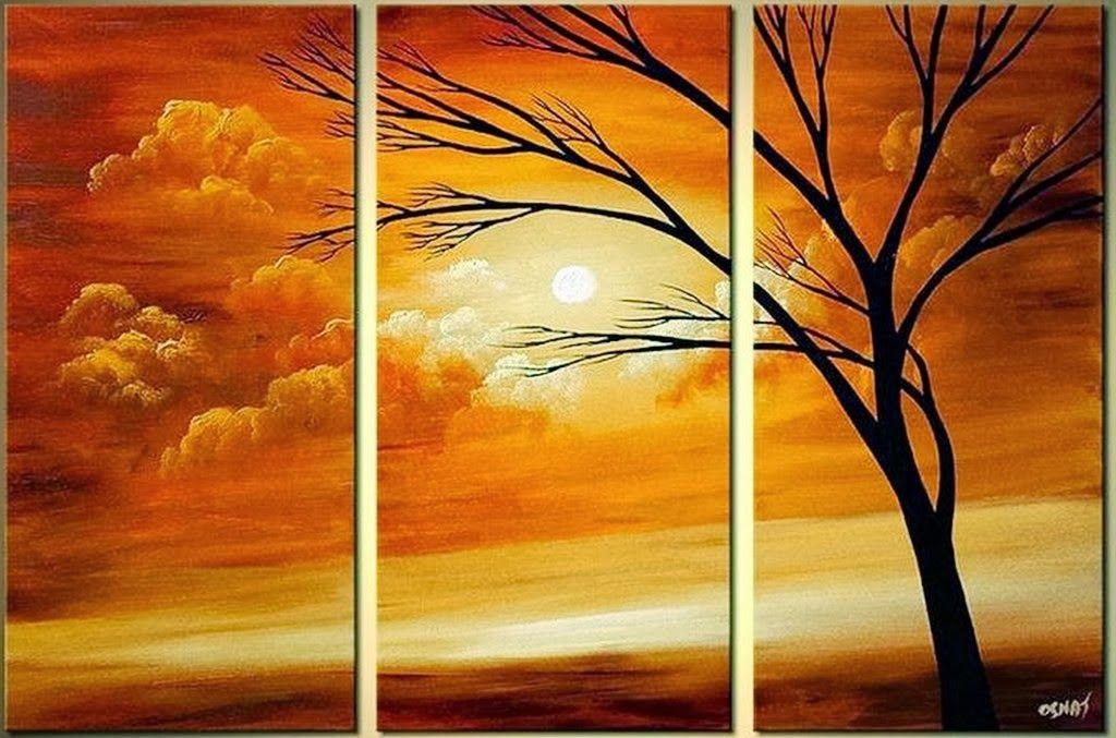 Cuadros tripticos pintados al oleo pintura decorativa for Cuadros de pinturas para comedor