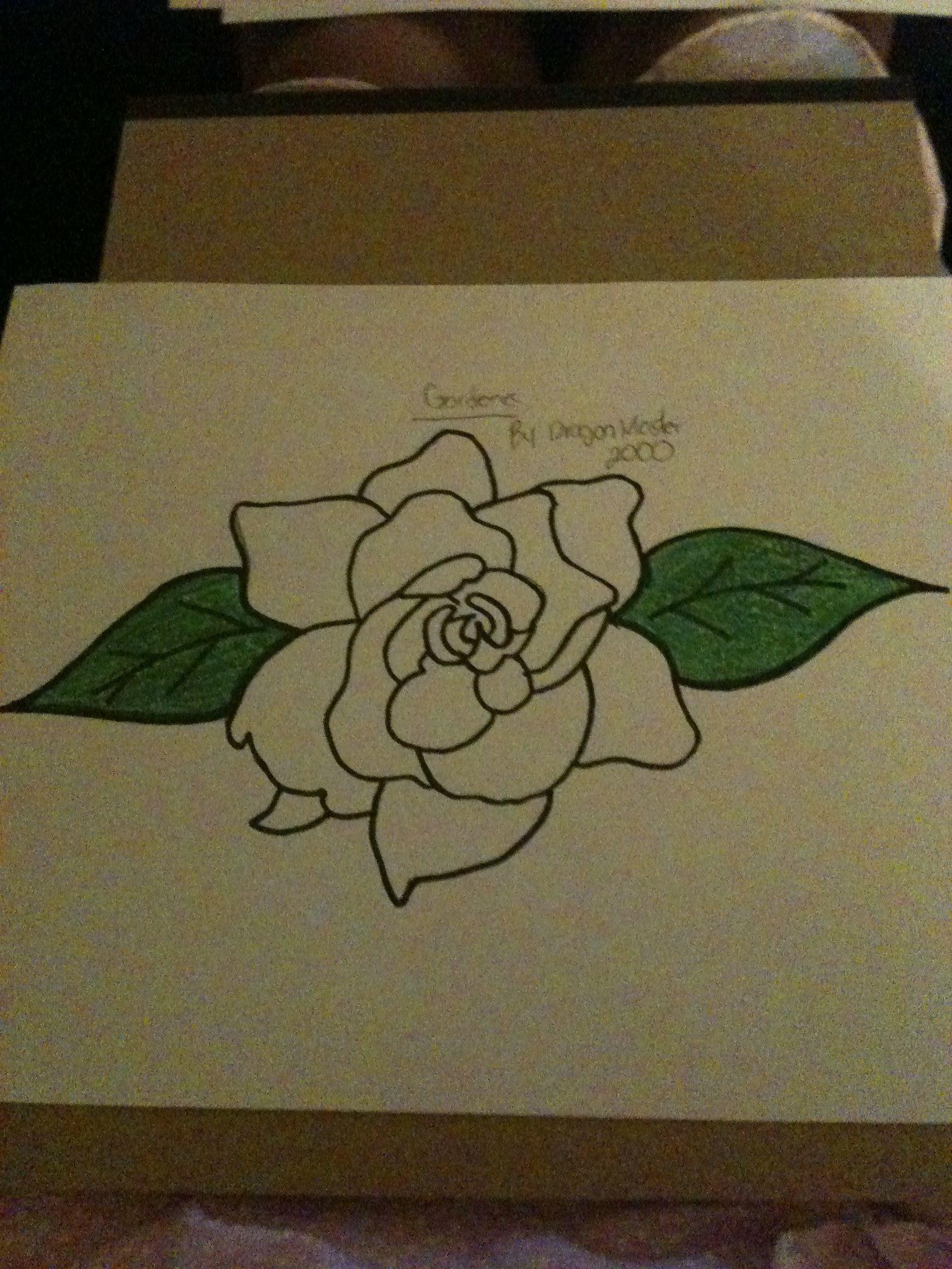 Image Result For Gardenia Drawing Gardenia Tattoo Floral Drawing Gardenia