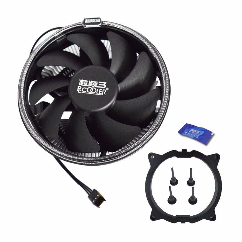 Pccooler 12cm Cpu Cooling Fan With Led Aperture Pwm Silent Cooler