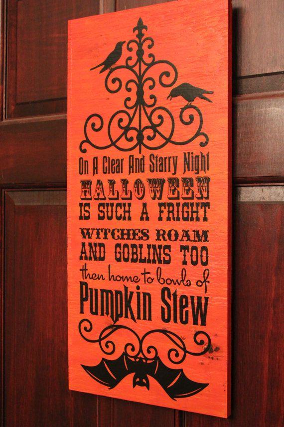 Halloween is such a frightHalloween sign, Bats, Pumpkins
